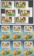 TCHAD 1982 - N° 339E-339H** + PA N° 246D-246H** + Blocs - Non Dentelés (Championnat Du Monde De Football - ESPAGNE 82) - Tschad (1960-...)