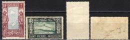 ST. PIERRE & MIQUELON - 1932 - MAPPA E PESCATORE - SENZA GOMMA - St.Pierre & Miquelon