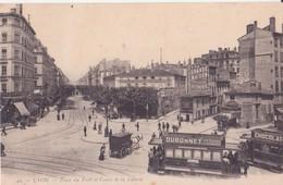 CPA - LYON - 49. Place Du Pont Et Cours De La Liberté - Lyon
