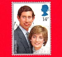 GB  - UK - GRAN BRETAGNA - Usato - 1981 - Nozze Reali - Principe Charles E Lady Diana Spencer - 14 - 1952-.... (Elisabetta II)