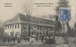 CARTE POSTALE  ORIGINALE ANCIENNE : SAINTE MARIE AUX MINES ASILE DE VIEILLARDS ANIMEE HAUT RHIN (68) - Sainte-Marie-aux-Mines