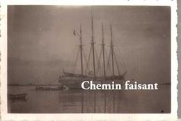 Photographie Originale D'un Voilier 4 Mâts - Scans Recto-verso - Bateaux
