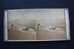2 Vues Stéréoscopiques : St Gervais -les- Bains + Cascade (Savoie) - Old (before 1900)