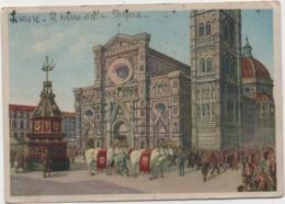 Firenze: Il Carro Del Sabato Santo. Viaggiata 1953 - Folklore