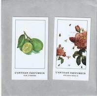 L' ARTISAN PARFUMEUR  2 Cartes Parfumées - Cartes Parfumées