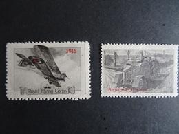 Cinderella/ Vignettes Delandre  :Aviation Militaire Britannique 1915 Et Véhicule Militaire (2) - état Neuf Voir Scan - Erinnofilia
