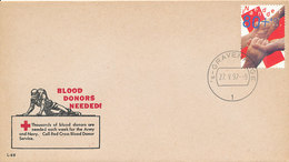 DC-1792 - 1997 NETHERLANDS FDC RED CROSS ON USA COVER - RODE KRUIS - FDC