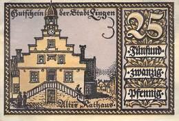 25 Pfg. Notgeld Lingen AU/EF (II) - [11] Local Banknote Issues
