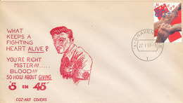 DC-1793 - 1997 NETHERLANDS FDC RED CROSS ON USA COVER - RODE KRUIS - FDC