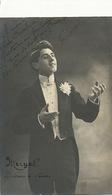 Carte Photo Fernand Méryal Diseur Debuts Au Concert Autographe Signée - Spectacle