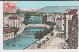 2784. Genève. Le Quai De La Poste. à Melle Léontine Breton. à St Lazarre Par Chinon. 1910. Aqua Photo Paris. - GE Genève