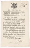 NAPOLEONE-REGNO D'ITALIA- EUGENIO NAPOLEONE-REGOLE SCUOLE PRIVATE CON DIVIETO 22/11/1810-(A3/05/34) - Décrets & Lois