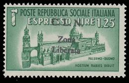 Italia - Comitato Liberazione Nazionale / Espresso (Duomo Di Palermo) Lire 1,25 Verde - Zona Liberata - 4. 1944-45 Repubblica Sociale