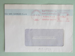 "Italia, ""Elettronica San Giorgio-ELSAG"", Affranc. Mecc., Meter, Ema, Freistempel, 1976 (frammento) (DZ) - Affrancature Meccaniche Rosse (EMA)"