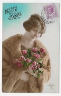 (RECTO / VERSO) MONACO EN 1925 - BONNE ANNEE - BEAU CACHET ET TIMBRE DE MONACO - FORMAT CPA - Monaco