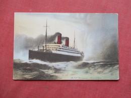 Artist Impression  RMS Carmania Cunard Line    Ref 3422 - Steamers