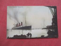 Artist Impression  RMS  Maurtania   Cunard Line    Ref 3422 - Steamers