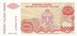 Croatia Knin Krajina 50.000 Dinara 1993. UNC   P-R21 - Croatie