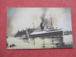 Artist Impression  RMS  Aurania    Cunard Line    Ref 3422 - Steamers
