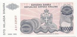 Croatia 100.000 Dinara 1993. UNC P-R22 - Croatie