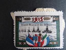 Vignette Delandre Base Navale De Moudros 1915 Expédition Des Dardanelles Port Grec île De Lemmos Voir Scan - Erinnofilia