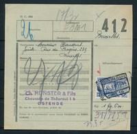 """Vrachtbrief Met Stempel  """"OOSTENDE (KAAI) Nr 16"""" - (ref. Nr 433) - Chemins De Fer"""