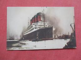 Artist Impression  RMS  Aquitania Cunard Line    Ref 3422 - Steamers