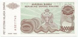 CROATIA 500.000 DINARA 1993. UNC P-R23 - Croatia