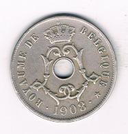 25 CENTIMES 1908 FR BELGIE /4727/ - 1865-1909: Leopold II