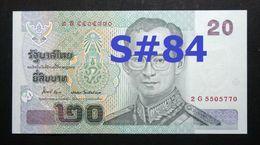 Thailand Banknote 20 Baht Series 15 P#109 SIGN#84 UNC - Thailand