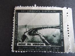 Vignette Mole Du Verdon 1935-1936 Fédération Nle Des Syndicats Diocésains D'enseignement Libre Catholique Voir Scan - Francia
