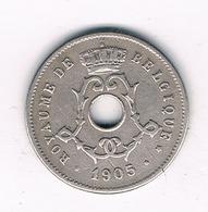 5 CENTIMES 1905 FR BELGIE /4731/ - 1865-1909: Leopold II
