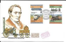 SAINT-VINCENT GRENADINES 1985 FDC TRAINS - Trains