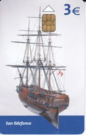 TARJETA DEL BARCO SAN ILDEFONSO  DE TIRADA 4000 (SHIP) - Boats
