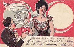 Liebeserklärung  - Gegenlichtkarte (Geldbeutel) - 1902        (A-85-160915) - Halt Gegen Das Licht/Durchscheink.
