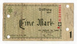 1 Mark Pologne Allemagne Juif Gettho Lodz - Polen