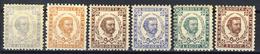 1894 - Montenegro - Effigie Del Principe Nicola Serie 6 Valori - Nuovi Mlh - Montenegro