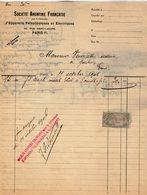 VP15.189 - Lettre - Société Anonyme Française D'Appareils Téléphoniques Et Electriques à PARIS Rue Saint - Lazare - Electricity & Gas