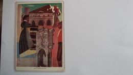 ITALIA CARTOLINA ILLUSTRATA PUBBLICITARIA PESCARA ABRUZZO CONSULTA NAZIONALE FIRMATA EPIFANIO NON NOTA - Italien