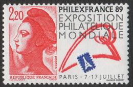 France Neuf Sans Charnière 1987 Liberté De Delacroix Philexfrance89 Exposition Philatélique   YT 2461 - 1982-90 Liberty Of Gandon