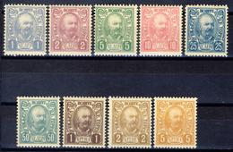 1902 - Montenegro - Effigie Del Principe Nicola Serie 9 Valori  - Nuovi Mlh - Montenegro