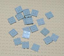 Lego 20x Plate Gris Ancien 2x2 Ref 3022 - Lego Technic