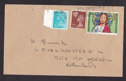 UK: Cover To Netherlands, 1985, 3 Stamps, Machin, 1x Regional Issue (right 2 Stamps Damaged) - 1952-.... (Elizabeth II)
