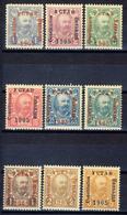 1905 - Montenegro - Soprastampati 1 Riunione Del Parlamento Serie Cpl.  - Nuovi Mlh - Montenegro