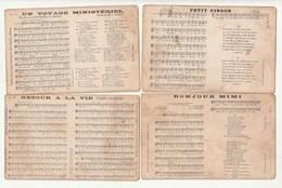 Lot 47 Cartes Partition Musique Et Paroles - Musique