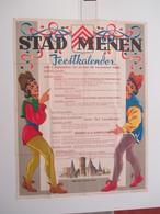 VP AFFICHE 83cm X 110cm (V1912) STAD MENEN ( 3 Vues) FEESTKALENDER 1 Sept Tot Met 15 September 1961 - Posters