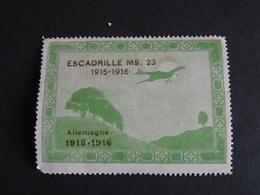 Vignette ESCADRILLE MS. 23 1915-1916 Allemagne MNH Voir Scan - Erinnofilia
