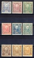 1906 - Montenegro - 1 Riunione Del Parlamento Serie Cpl. In Caratteri Maggiori + Varieta' Soprastampa  - Nuovi MNH - Montenegro