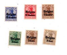 """Allemagne -petit Lot De Timbres """"Deutsches Reich"""" Surcharge Belgien-voir état. - Unclassified"""