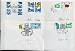 Postal History: Germany 4 Covers With Mixed Berlin And DDR Stamps - [7] Federal Republic